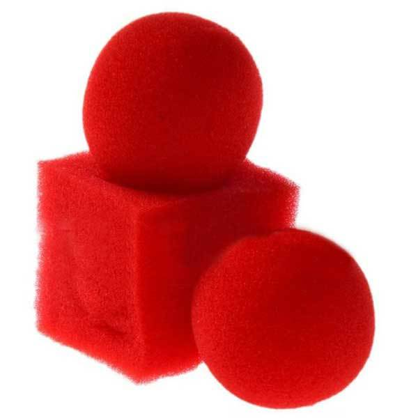 Covington Kingmagic Magic Ball To Square Sponges Tricks Set Red(China (Mainland))