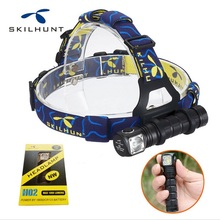 2016 New skilhunt H02 led flashlight cree XM-L2 led 1000 lumens led headlamp hunting equipment + headband free shipping(China (Mainland))