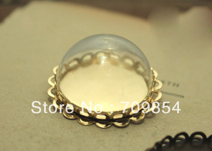 free shipping!!! 100pcs/lot 30mm Brand New Pyrex Glass Globe bubbles vials with lace tray<br>