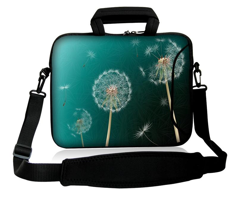 "10""13""14""15""17"" Dandelion Seeds Style Neoprene Handle Laptop Shoulder Bag Messenger Cover Pouch Case For Ultrabook Acer Asus(China (Mainland))"