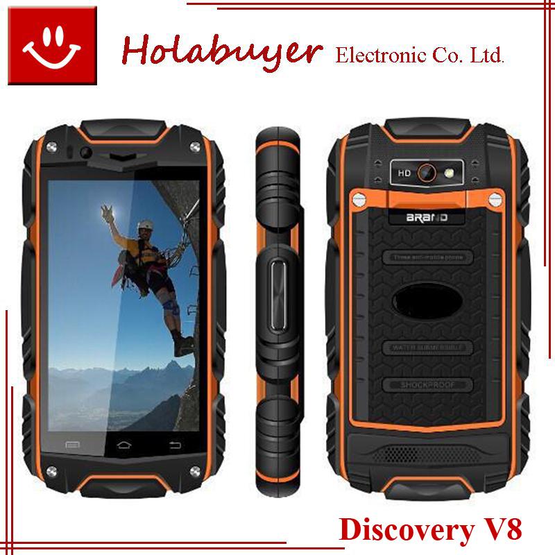 Original Discovery V8 waterproof Phone 4.0inch MTK6572 RAM 512M ROM 4G Dual Core Waterproof Dustproof Shockproof WCDMA 3G Phone(China (Mainland))