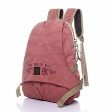 women backpack vintage style washed canvas laptop bag travel bag school backpack(China (Mainland))