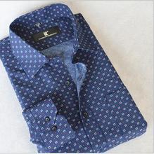 2015 Fall fashion Boutique men luxuries long sleeve Shirt / Men's Casual cotton Cross Line Slim Fit Dress brand printing Shirts(China (Mainland))