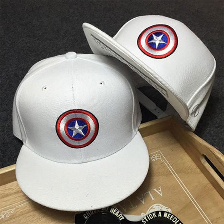 2016 Brand Captain America Snapback Hat Men Women Raiders Hip Hop Gorras Iron Man Avengers Hat Fashion Hockey White Black Cap(China (Mainland))
