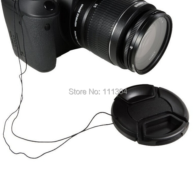 Free Shipping 52MM 55mm 58mm 62mm 67mm 72mm 77mm Snap On Front Lens Cap Cover for