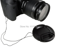 Free Shipping 52MM 55mm 58mm 62mm 67mm 72mm 77mm Snap-On Front Lens Cap/Cover for Canon, Nikon, all DSLR lenses with rope