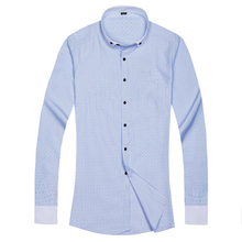 2015 Spring Autumn Fashion Mens Polka Dot Dress Shirt Long Sleeve Social Formal Shirts Camisa Cotton 13M0044 - NB Wonder Journey Jewelry Co.,Ltd store