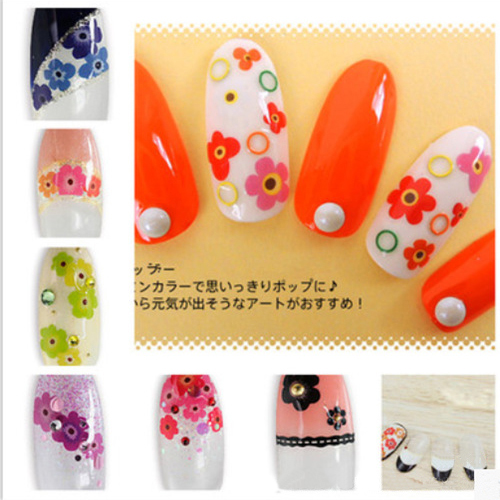 Nail Art Water Decals Mini Cute Flower DIY Tips Decorations Sheet on Fingers Water Transfer Nail Art Tattoo 8257839(China (Mainland))