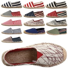 2016 Women shoes Casual slip on Flats Canvas Shoes for Men Women espadrilles Loafers Shoes Woman Size 35-45(China (Mainland))