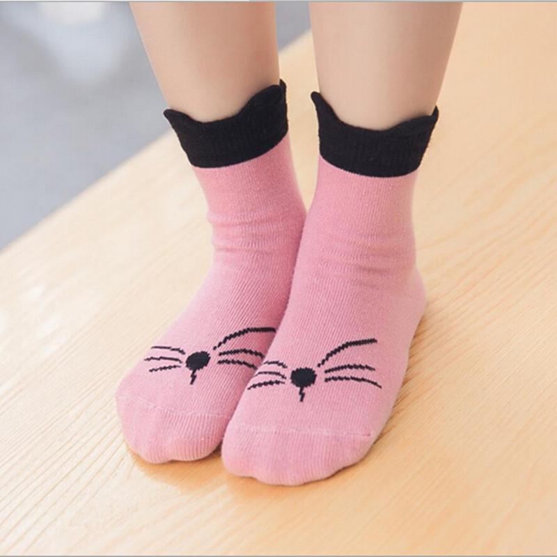 2016 Newest Spring Baby Girls Socks Cute Korean Cartoon Kids Socks 3 Colors Cotton Short Tube Children Socks For 1-6Y KidsSK059 <br><br>Aliexpress