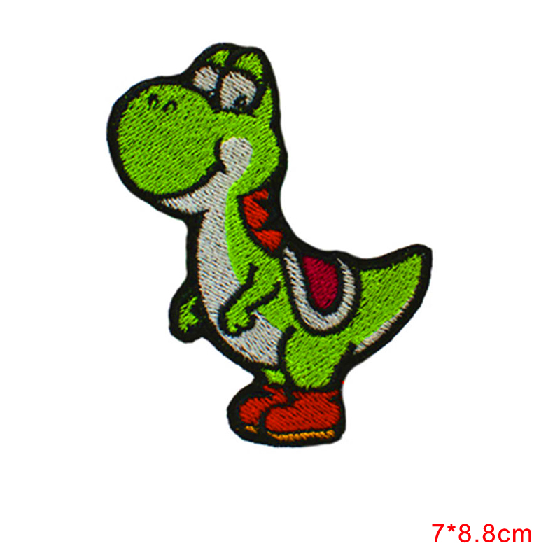 Embroidered DINOSAUR YOSHI CARTOON Video Comics Iron & Sew On Patch Cloth Lace Motifs(China (Mainland))