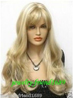 Wholesale heat resistant LY free shipping New font b wig b font long blonde mixed wavy
