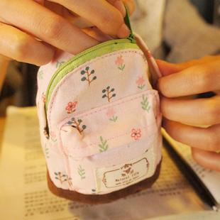 Гаджет  Rustic small cotton canvas small school bag multifunctional coin purse key wallet 30g None Камера и Сумки