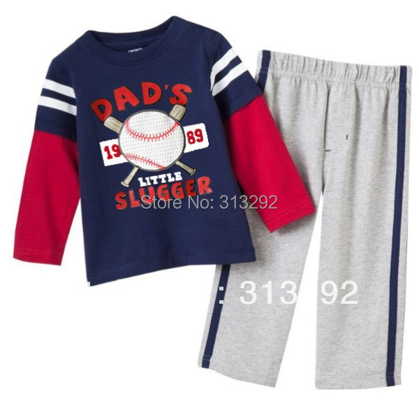 ALT1, Baseball, 6sets/lot (18/24M 2T 3T 4T 5T 6T), Baby/Children sport Clothing sets, long sleeve sets Pajamas for 1-6Y<br><br>Aliexpress