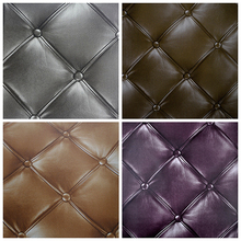 Studded Effect Luxury Waterproof Faux Leather Wallpaper 3D Roll For Hotel,Bar,Room,TV Background Wallcovering Gold Bronze Grey(China (Mainland))