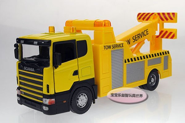 2014 Free shipping-Medium traffic tractor /kid luxury gift box/alloy model car,kids puzzle toy Christmas gift car electronics