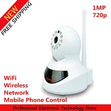 SJG-W1 Smart Wireless IP Camera Network WiFi Camera 1MP 720p Mobile Phone Control Free Shipping