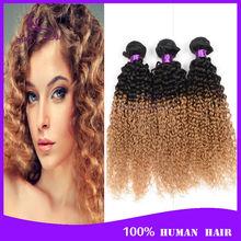 Grade 6a peruvian kinky curly virgin hair ombre Peruvian curly hair 4bundles curly weave Cheap curly virgin hair bundle deals