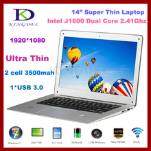 8G RAM+1T HDD,Super thin 14 inch laptops computer with Intel Celeron J1800 Dual Core 2.41-2.58Ghz, USB 3.0, HDMI,Win 7,Shenzhen