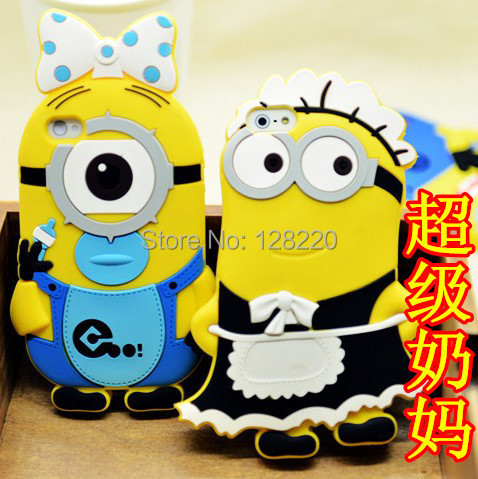 Fashional cute 3D cartoon model silicon material Despicable Yellow Minions Case iphone 4 4S 5 5S Soft - Special Zone Trading Co.,Ltd store