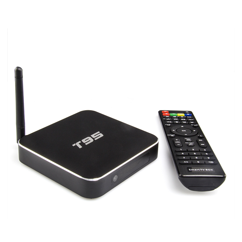 Amlogic S905 Quad-Core Andorid 5.1 TV BOX 1GB/8GB KODI 16.0 WiFi 2.4GHz Full HD1080p HDMI 4k2k LAN Set Tv Box T95<br><br>Aliexpress