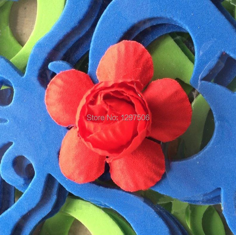 Feito à mão rosas de seda artificial pequeno tecido azaléia cabeças arranjos de artesanato diy acessórios bouquet decoração para guirlanda cabelo(China (Mainland))