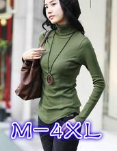 Autumn winter women's slim pullover plus size long design basic turtleneck turtleneck shirt female long sleeve sweaters 309#(China (Mainland))