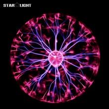 4,5, 6,8 дюймов плазменный шар Света высокого напряжения электростатического Сфере Фиолетовый синий Удивительно магия Плазменный Шар земной шар