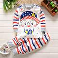 2016 Autumn Baby Boy Girl Clothes Long Sleeve Top Pants 2pcs Sport Suit Baby Clothing Set