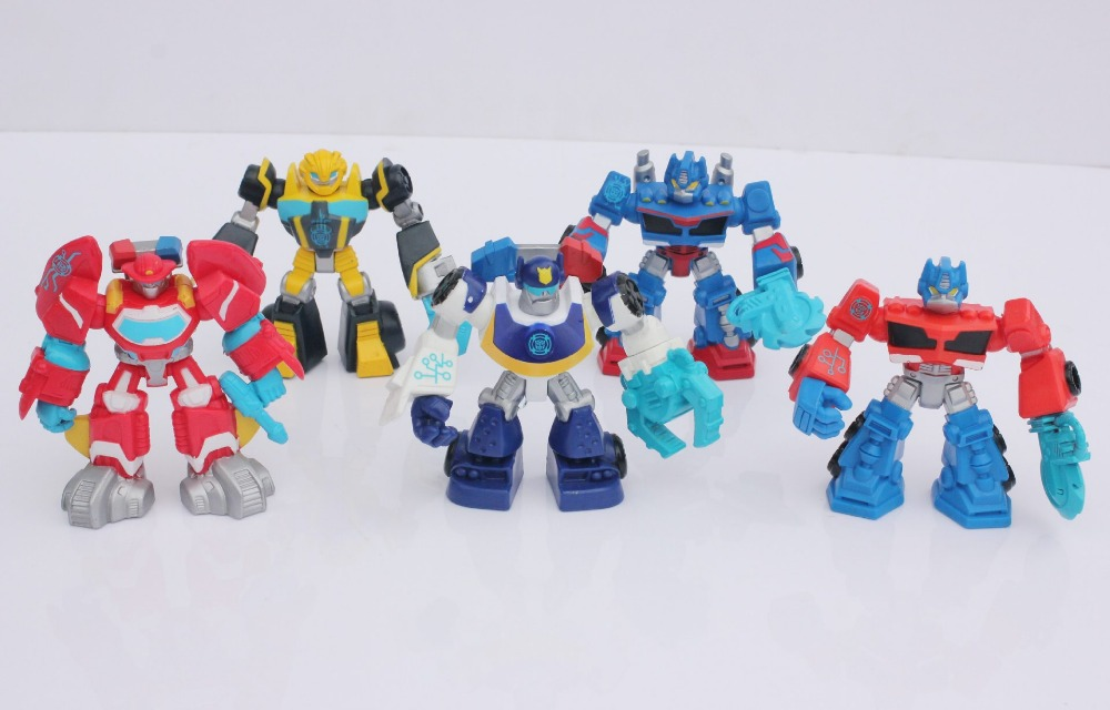 2015 Transformations Action Figures Robot Toys Playskool Rescue Bots 5pcs/set Children Toys Dolls Gifts for Boys Girls 200pcs(China (Mainland))