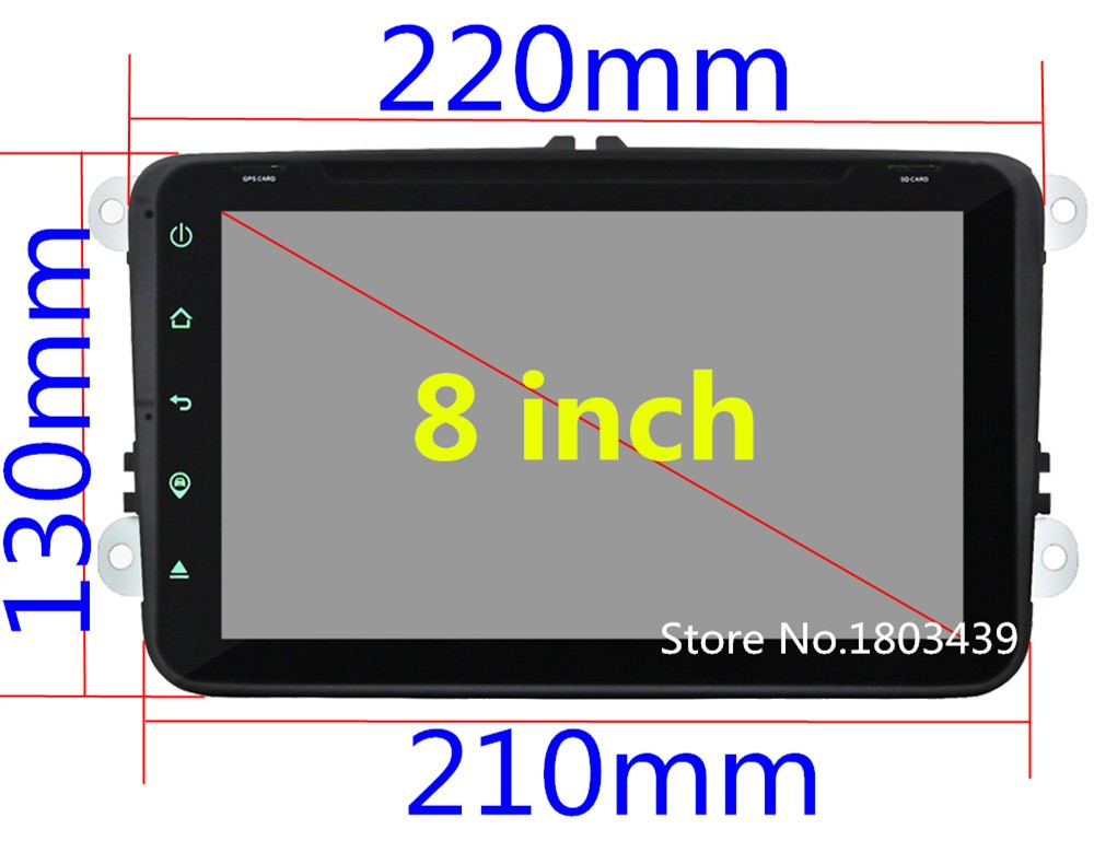 """Quad Core 8"""" 1024*600 Android 5.1.1 Car DVD Player Radio 4G DAB+ For VW PASSAT Polo Scirocco Sharan SEAT Multivan T5 Jetta EOS"""