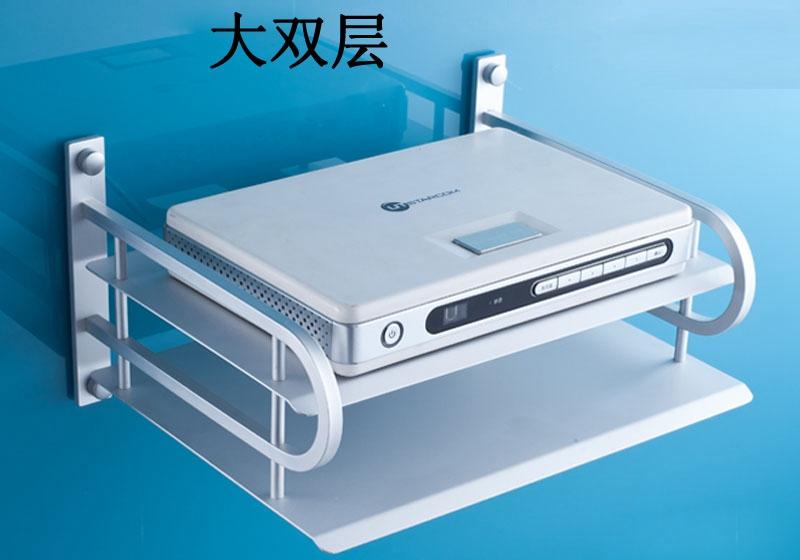 Cheap digital TV set-top box rack space aluminum wall-mounted router bracket optional single bunk<br><br>Aliexpress