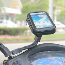 "Universal 4.7"" 4.8"" Motorcyle Scooter Electric Car Rearview Mirror Mount Holder Stand Bag Phone Waterproof Case for Samsung LG(China (Mainland))"