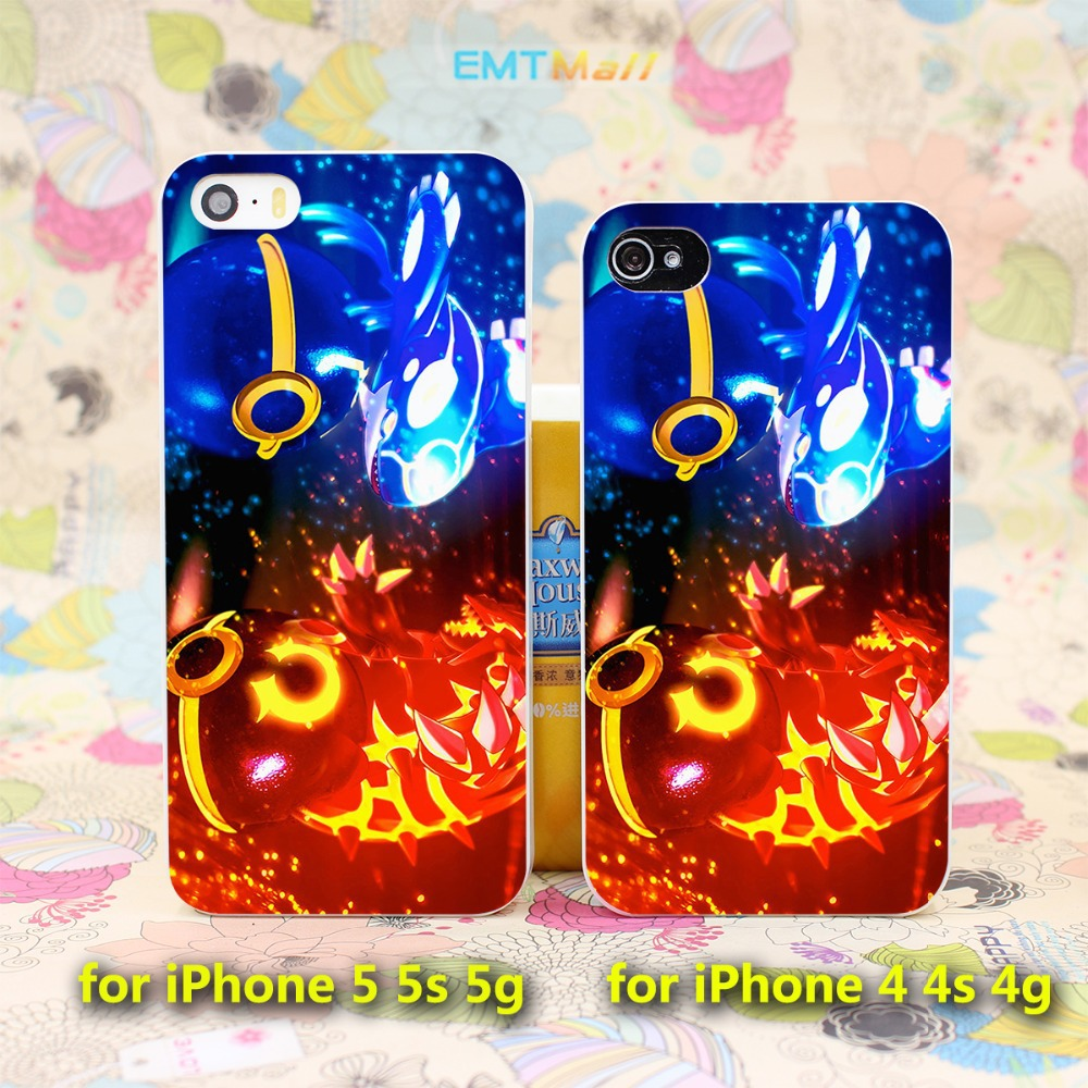 New Art Hard White Skin Back Pokeballs of Omega Ruby and Alpha Sapphire Design Case Cover for iPhone 4 4s 4g 5 5s 5g(China (Mainland))