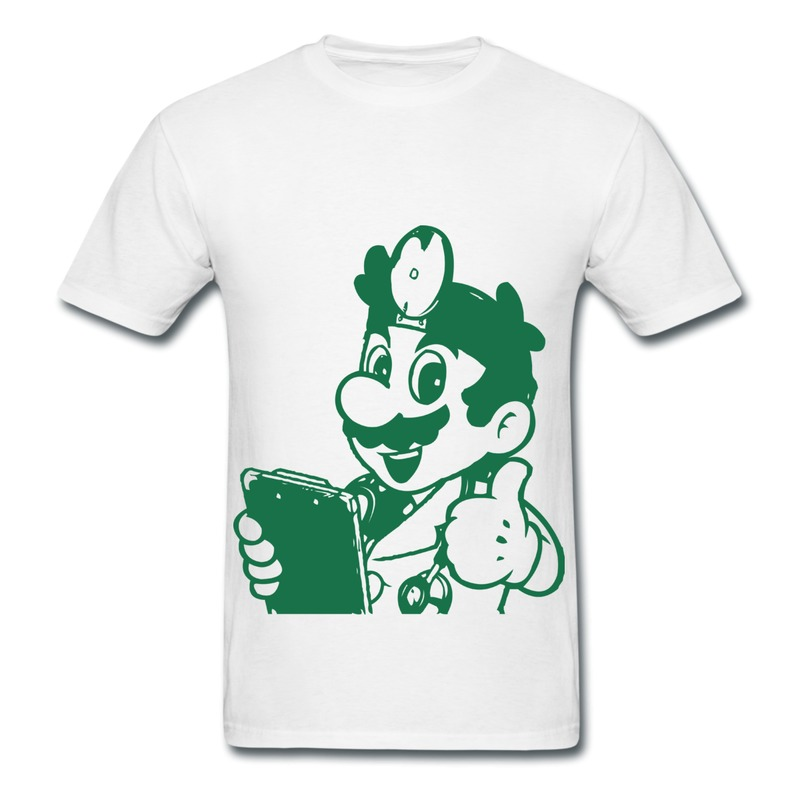 Short sleeve mens t shirt mario thumbs up t shirts mens for Design your own shirts and hoodies