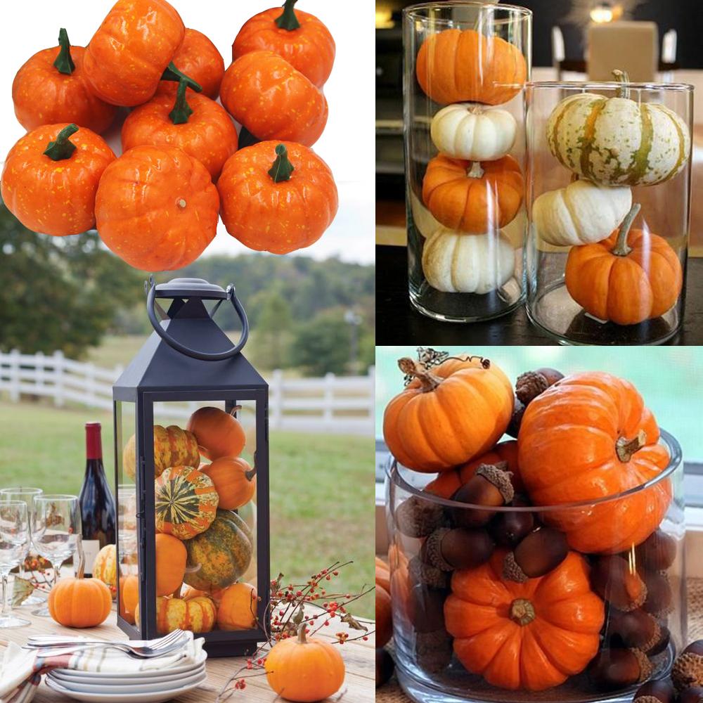 16pcs Pack Mini Foam Pumpkin For Thanksgiving Fall