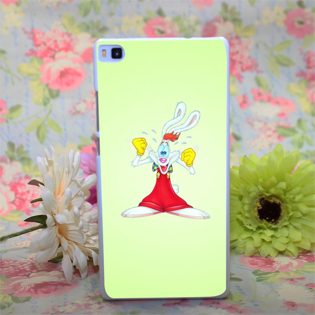 krolik rodger Design White Hard Case Cover for Huawei Ascend P6 P7 P8 P8 lite(China (Mainland))