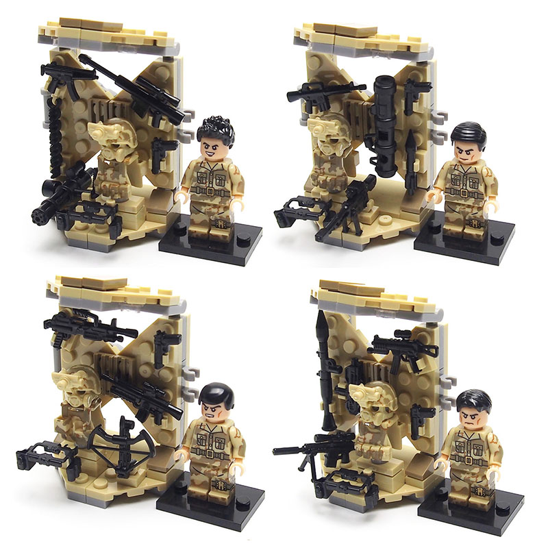 CS SWAT Police Military soldier weapon building blocks brick Set Army weapon Building Compatible legoed toys for children(China (Mainland))