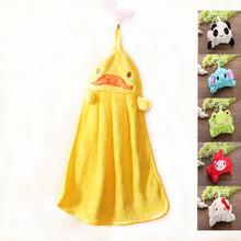 2016 New Nursery essuie-mains en tissu doux en peluche Cartoon animaux Hanging essuyez bain serviette 6 couleurs(China (Mainland))