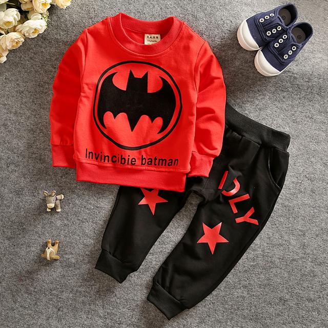 Детской одежды 2015 дети костюмы костюм бэтмен одежда детей 2 шт. пальто + дети брюки ...