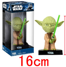 Star Wars Yoda Toys 1pcs Moving Head Model Toys ABS Funko Pop Brinquedos Bobble Head Anime Juguetes Action Figure Kids Toys toy