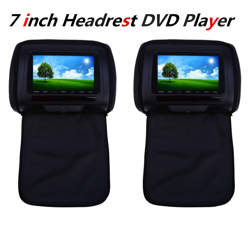 2Pcs/Pair Car Headrest DVD Player LCD Screen XD783 7 Inch Car Audio Universal Car DVD Player Backseat Monitor FM Transmitter(China (Mainland))