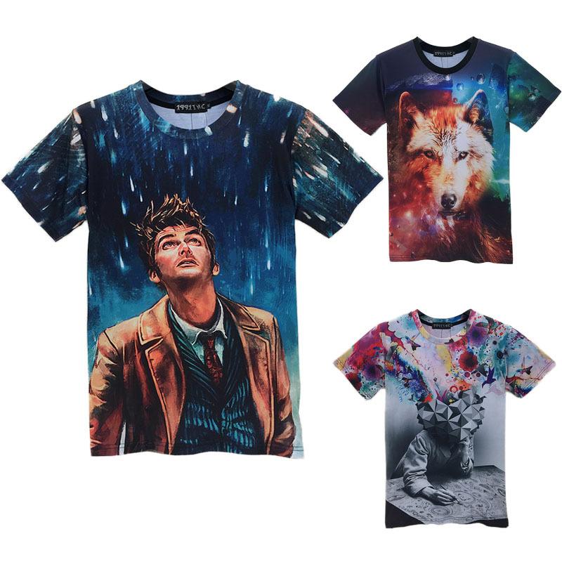 Hot 2015 new fashion pencil printed creative t shirt 3d mens/women tshirt summer funny psychedelic tee shirt lovers clothes(China (Mainland))