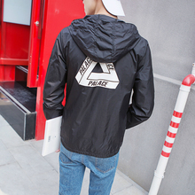 2016 PALACE Leisure White Triangle Supply Co Men Thrasher Polo Jacket Skateboard L Jacket Zipper Pattern Windbreake