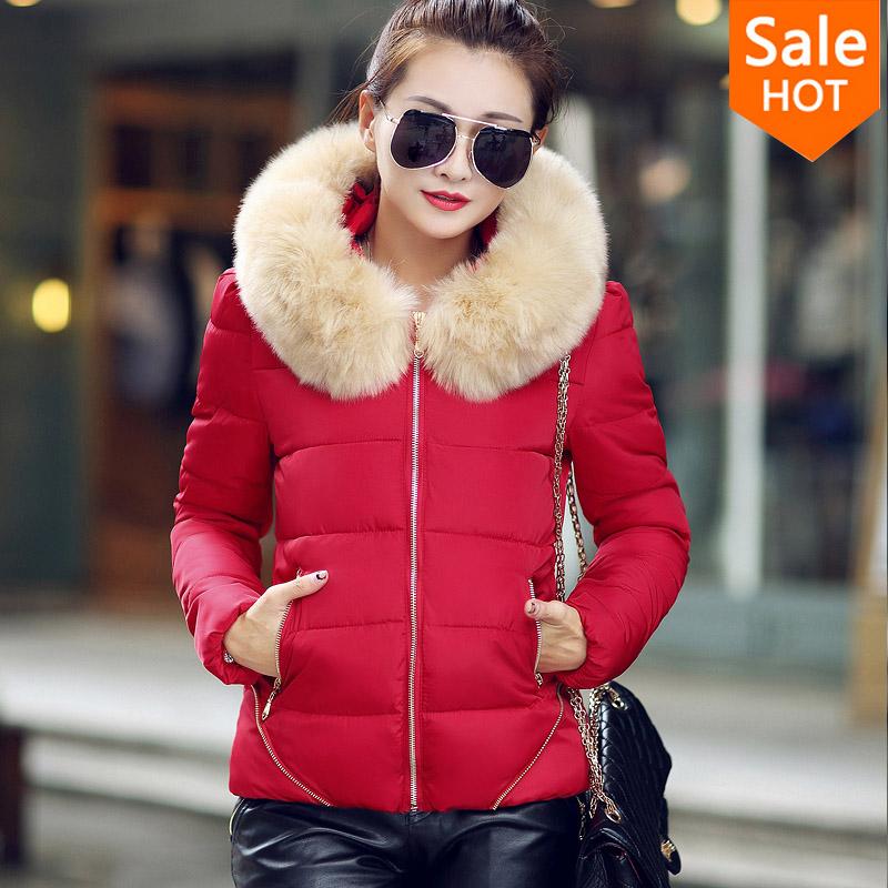 Winter Jacket Women 2015 Winter Coat warm winter coat Down & Parkas casaco feminino thick plus size fur collar Outwear For Women