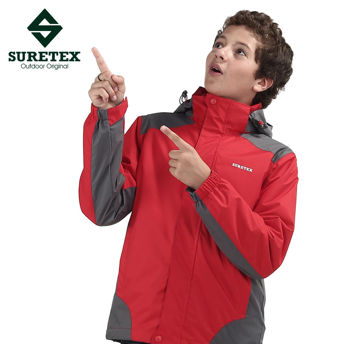 Child three-in outdoor jacket thickening fleece male big boy child teenage set - Famous brand Co. Ltd. store