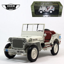 New product World war ii Willis jeep willys 1:18 willy welly FX UN peacekeeping editions of alloys(China (Mainland))
