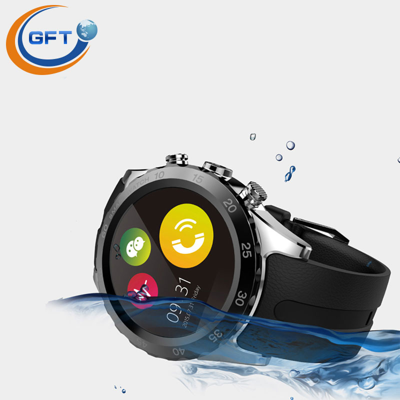 """Фотография GFT  KW08 SmartWatch Bluetooth MTK6260 Compatible With Android IOS Clock 1.22"""" IPS HD LCD Support SIM Card Phone Call NFC"""