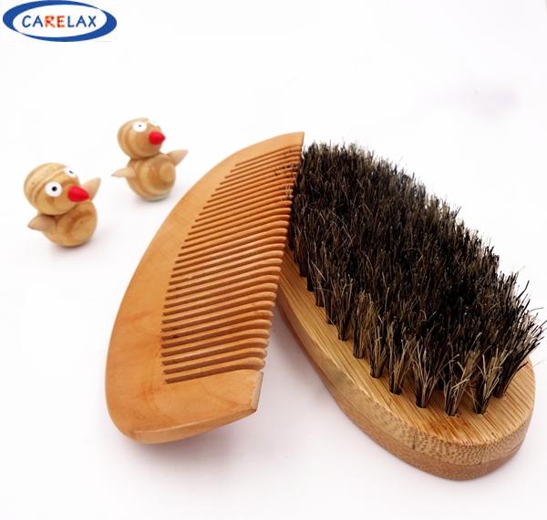 comb shaving brush set beard brush for men bamboo with 100 boar bristles face massage that works. Black Bedroom Furniture Sets. Home Design Ideas