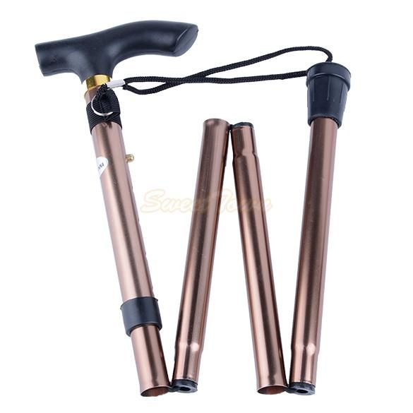 Adjustable Handle Folding Walking Cane Strong Study Aluminum Mountain Ergonomic Hiking Handle SV21(China (Mainland))